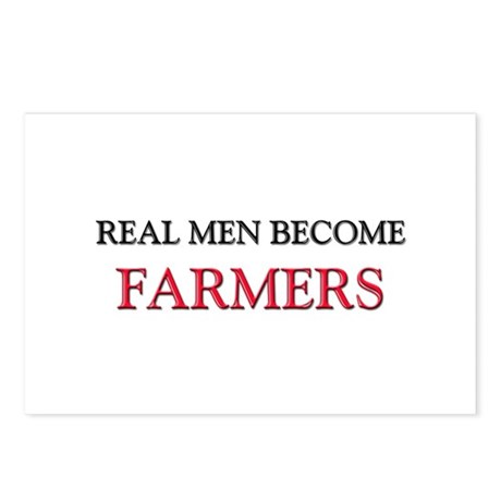 Real Men Become Farmers Postcards (Package of 8)