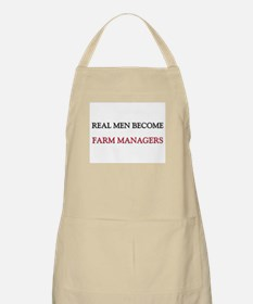 Real Men Become Farm Managers BBQ Apron