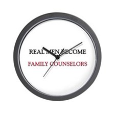 Real Men Become Family Counselors Wall Clock
