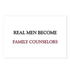 Real Men Become Family Counselors Postcards (Packa