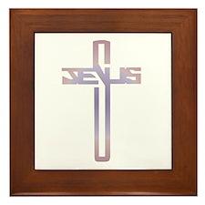 Jesus Cross Framed Tile