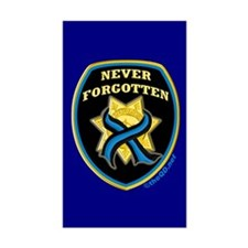 Thin Blue Line NeverForgotten Rectangle Decal