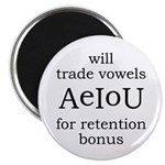 "Will Trade Vowels 2.25"" Magnet (10 pack)"