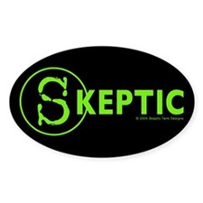 Skeptic Tank Designs Oval Decal