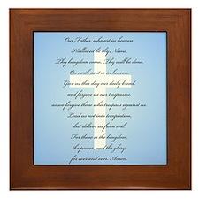 The Lord's Prayer Framed Tile
