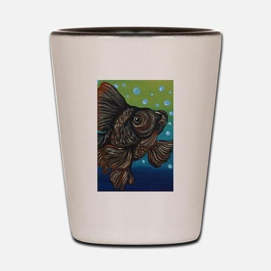 Black Moor Goldfish Shot Glass