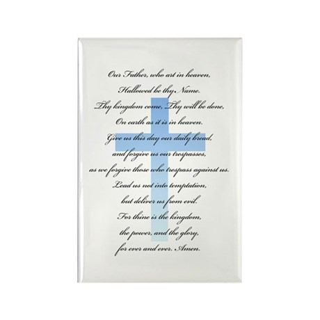 The Lord's Prayer Rectangle Magnet