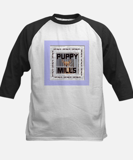 Just Say No to Puppy Mills! Kids Baseball Jersey
