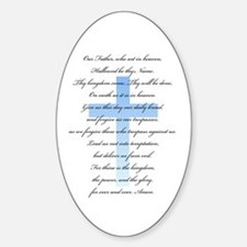 The Lord's Prayer Oval Decal