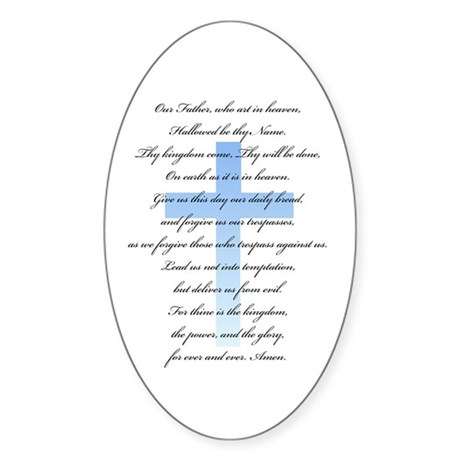 The Lord's Prayer Oval Sticker