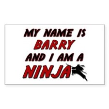 my name is barry and i am a ninja Decal