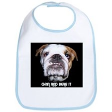 GRIN AND BEAR IT BULLDOG FACE Bib