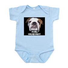 GRIN AND BEAR IT BULLDOG FACE Infant Bodysuit