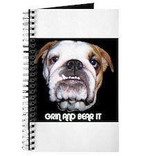 GRIN AND BEAR IT BULLDOG FACE Journal