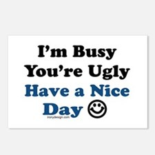 Have a Nice Day Sarcastic Postcards (Package of 8)
