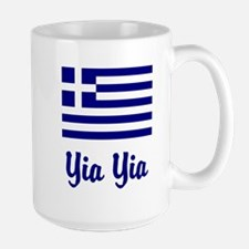 Yia Yia with Greek Flag Mug