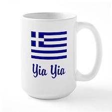 Yia Yia with Greek Flag Mug