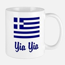 Yia Yia with Greek Flag Small Mugs