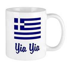 Yia Yia with Greek Flag Small Mugs