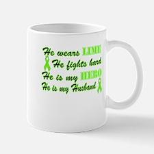 He is a Husband and Hero Lime Mug