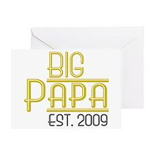 Big Papa Est 2009 Greeting Card