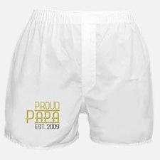 Proud Papa Est 2009 Boxer Shorts
