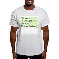 He is my Husband Lime Angel T-Shirt