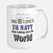 US Navy Beer Large Mug
