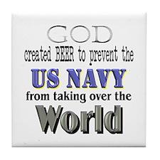US Navy Beer Tile Coaster