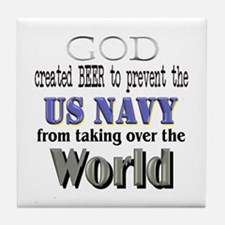 US Navy Beer Tile Coaster