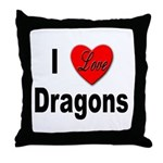 I Love Dragons Throw Pillow