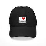I Love Dragons Black Cap