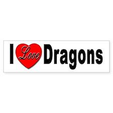 I Love Dragons Bumper Bumper Sticker