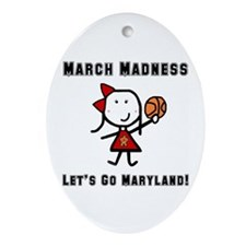 March Madness UMD Ornament (Oval)
