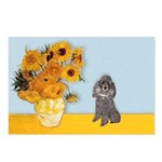 Sunflowers / Poodle (Silver) Postcards (Package of