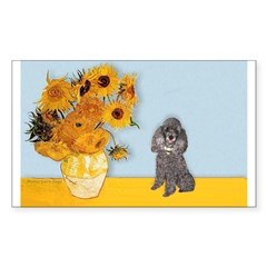 Sunflowers / Poodle (Silver) Decal