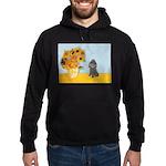 Sunflowers / Poodle (Silver) Hoodie (dark)