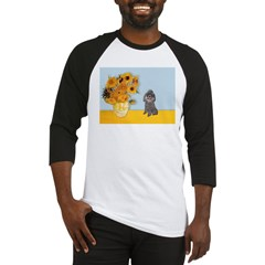 Sunflowers / Poodle (Silver) Baseball Jersey