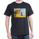 Sunflowers / Poodle (Silver) Dark T-Shirt