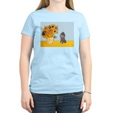Sunflowers / Poodle (Silver) T-Shirt