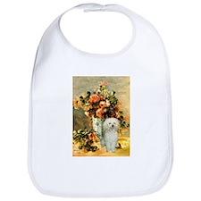 Vase / Poodle (White) Bib