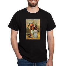 Vase / Poodle (White) T-Shirt