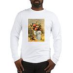 Vase / Poodle (White) Long Sleeve T-Shirt