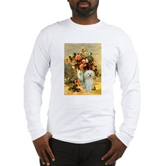 Vase / Poodle (White) Long Sleeve T-Shirt