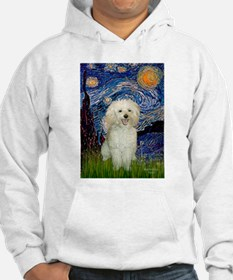 Starry / Poodle (White) Hoodie