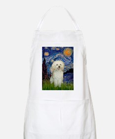 Starry / Poodle (White) Apron