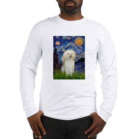 Starry / Poodle (White) Long Sleeve T-Shirt