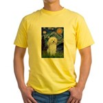 Starry / Poodle (White) Yellow T-Shirt
