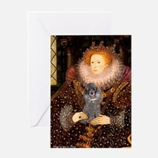 Elizabeth / Poodle (Silver) Greeting Card