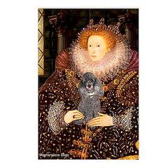 Elizabeth / Poodle (Silver) Postcards (Package of